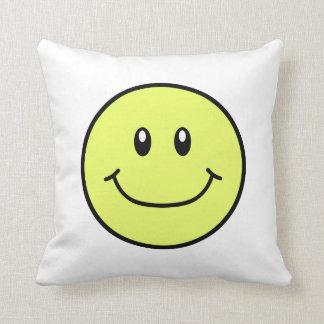 Smiling Face Pillow Yellow 0001