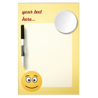 Smiling Face with Open Eyes Dry Erase Whiteboard