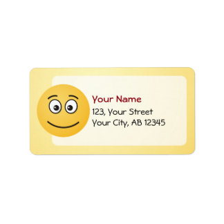 Smiling Face with Open Eyes Label