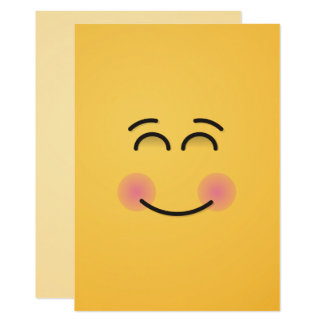 Smiling Face with Smiling Eyes Card