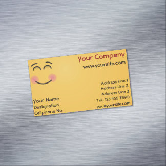 Smiling Face with Smiling Eyes Magnetic Business Card