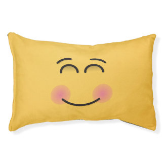Smiling Face with Smiling Eyes Pet Bed