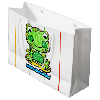 SMILING FROG TWO FACE SHOPPING BAG