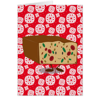 Smiling Fruitcake Card