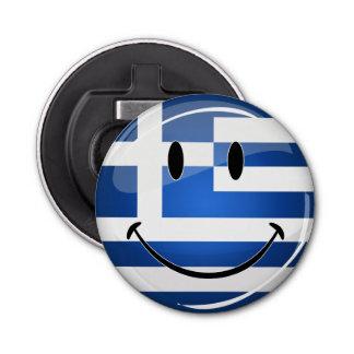 Smiling Greek Flag Bottle Opener