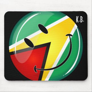Smiling Guyanese Flag Mouse Pad