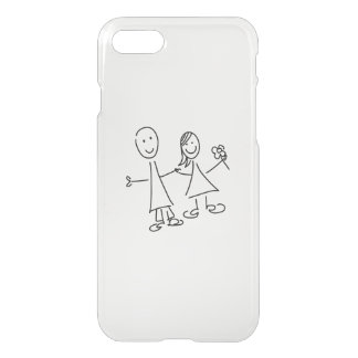 Smiling Hand in Hand Lovers Drawing iPhone 7 Case