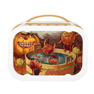 Smiling Jack O' Lantern Pumpkin Apple Lunch Box