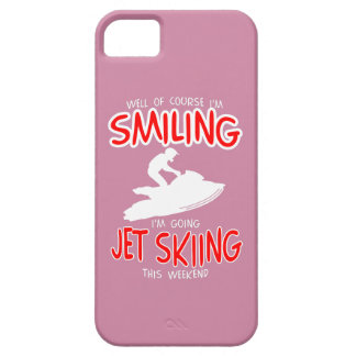 SMILING JET SKIING W/END (wht) iPhone 5 Case