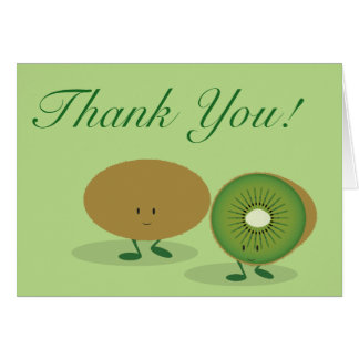 Smiling Kiwi thank you Card