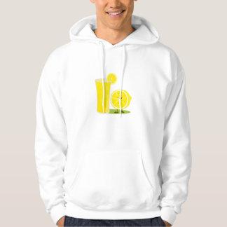 Smiling lemon and a glass of lemonade hoodie