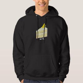 Smiling lemon cake slice hoodie