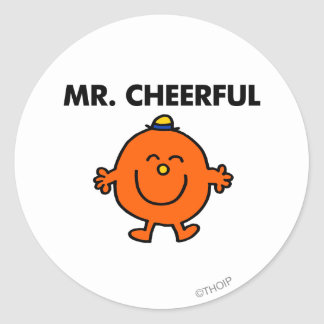 Smiling Mr. Cheerful Classic Round Sticker