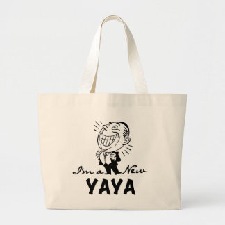 Smiling New Yaya Tshirts and Gifts Large Tote Bag