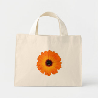 Smiling Orange Flower Mini Tote Bag