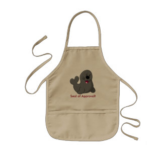 """""""Smiling Seal of Approval"""" Kids Apron"""