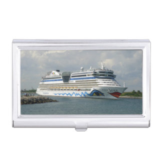 Smiling Ship in Channel Business Card Holder