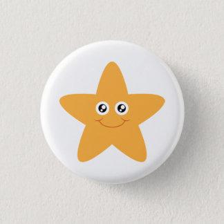Smiling Starfish Button