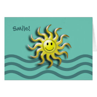 Smiling Sun Summer Solstice Party Invitation