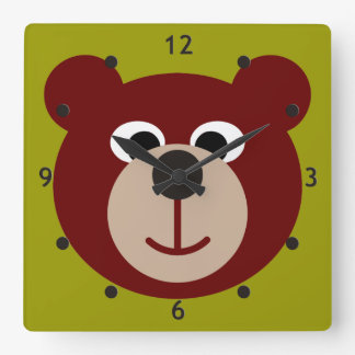 Smiling Teddy Bear Clock