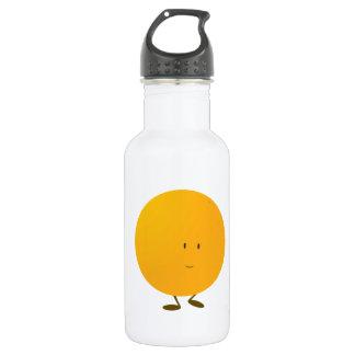 Smiling whole orange character 532 ml water bottle
