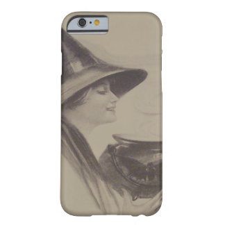 Smiling Witch Cauldron Spell Potion Sepia Barely There iPhone 6 Case
