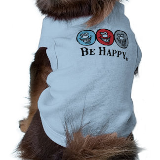 Smily Face (Be Happy) *Dog blue Shirt
