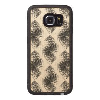 Smoke Optical Illusion Marble Paint Black White Wood Phone Case