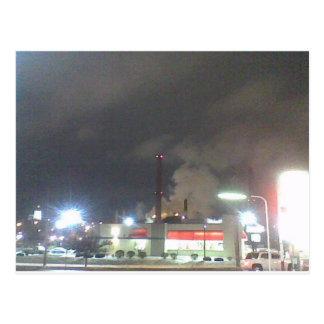 Smoke Stacks by Night Postcard