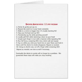 Smokers 12 step card