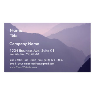 Smokey Mountains Haze Pack Of Standard Business Cards