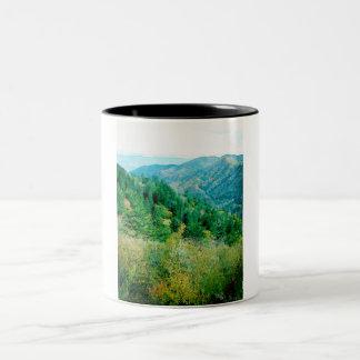 Smokey Mountains Two-Tone Coffee Mug