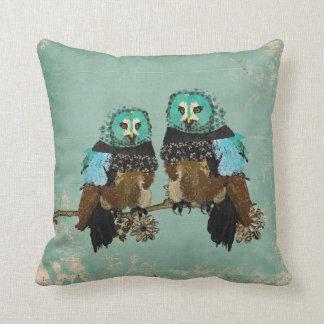 Smokey Rose Owls  MoJo Pillow Cushion