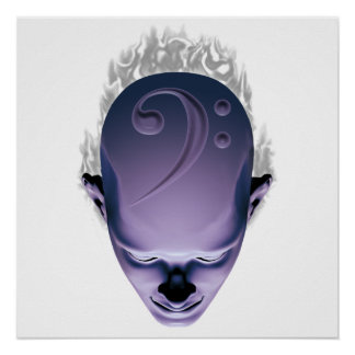 Smokin Bass Head Posters