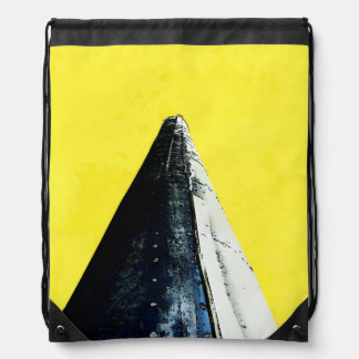 Smokin' Cone on Yellow Drawstring Bag