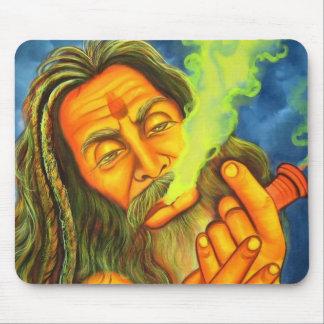 smoking hippy mouse pad
