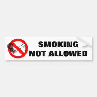 Smoking Not Allowed Warning Sign Bumper Sticker