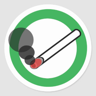 Smoking Sign Classic Round Sticker