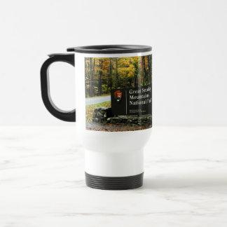 Smoky Mountain Nat'l Park Autumn Sign Traveler Cup Stainless Steel Travel Mug