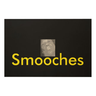 SMOOCHES WALL ART WOOD CANVAS
