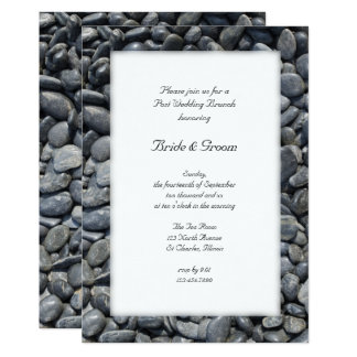 Smooth Black Pebbles Post Wedding Brunch Invite
