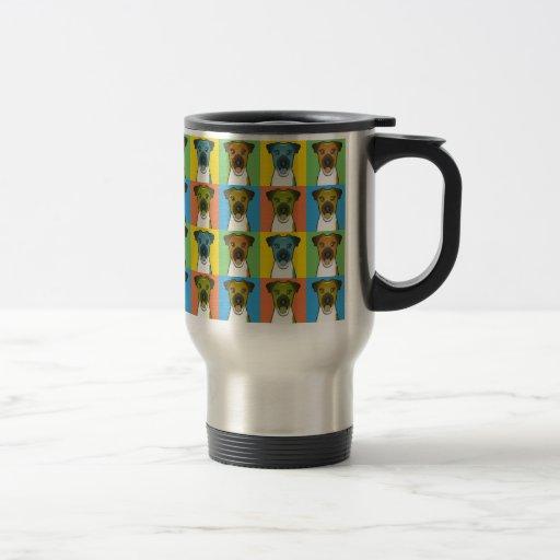 Smooth Fox Terrier Dog Cartoon Pop-Art Coffee Mugs