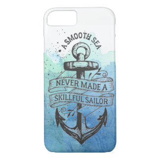 Smooth Sea Skilled Sailor Iphone Case Watercolor