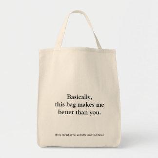 Smug shopping bag