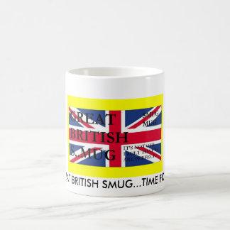 smug yellow, GREAT BRITISH SMUG...TIME FOR TEA! Coffee Mug