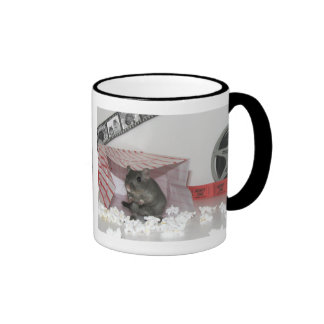 Smurf the Gerbil Goes to the Movies Ringer Mug
