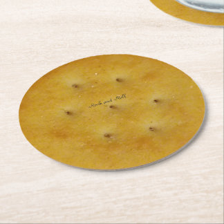 Snack Cracker Round Paper Coaster