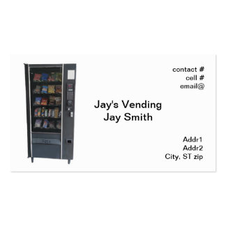 snack vending machine pack of standard business cards