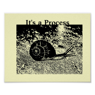 Snail - It's a Process Poster