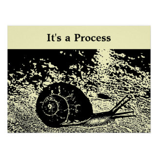 Snail -- It's a Process Poster